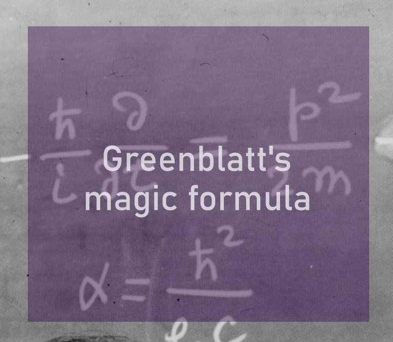 Greenblatts magic formula